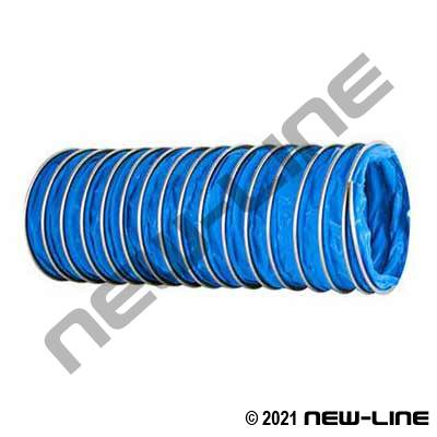 Blue All PTFE Ducting Hose w/ Stainless Helix