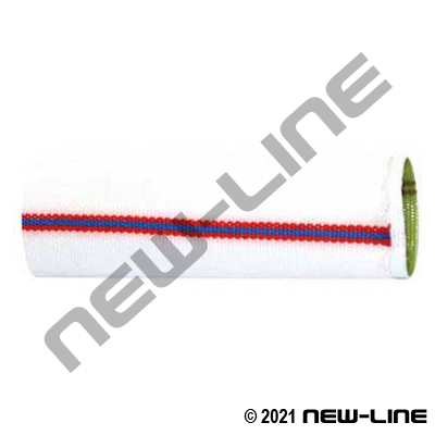 White Double Jacket Brigade Fire Hose with Urethane Tube