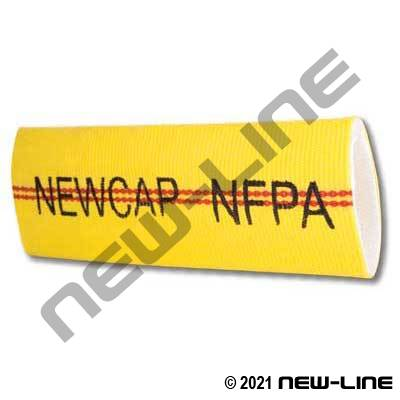 Yellow Newcap Double Jacket Fire Hose with Urethane Tube