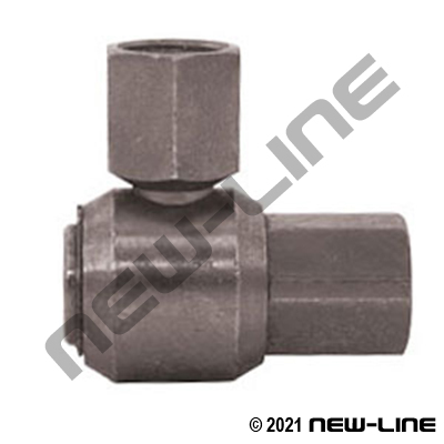 Female NPT Barrel X Female NPT Live Swivel 90°