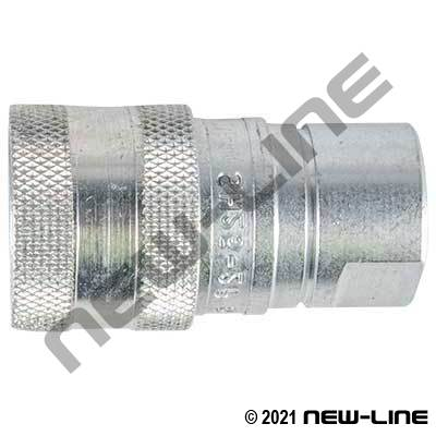 SH Series 6000 PSI Coupler with Poppet NPT