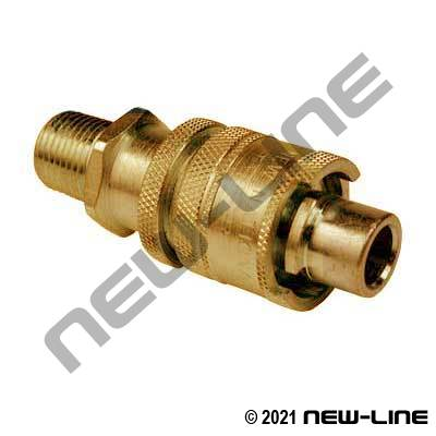 National Brass B Male x Male NPT with Locking Sleeve