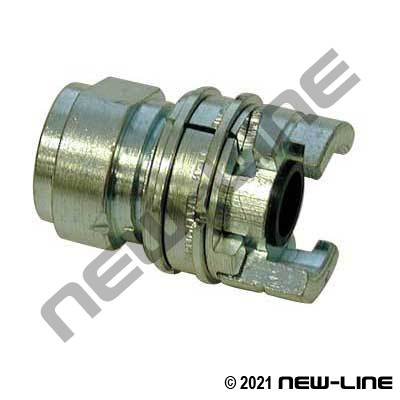 "National A ""Locking"" Female End - Plated Steel"
