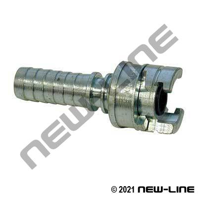 National A Hose End - Plated Steel