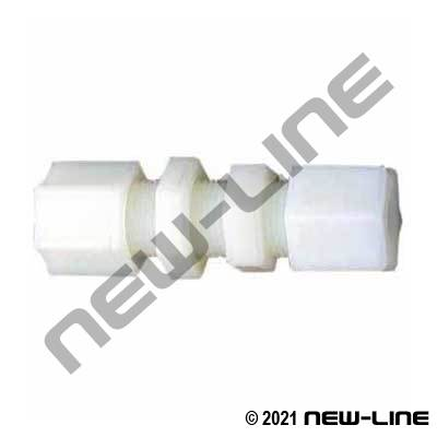 Tube Kynar Compression Bulkhead Union