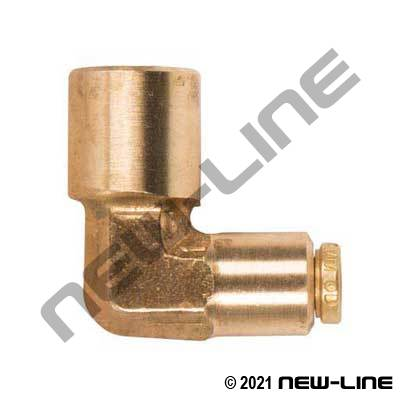 Brass Non-DOT Push-In X Female NPT 90° Elbow