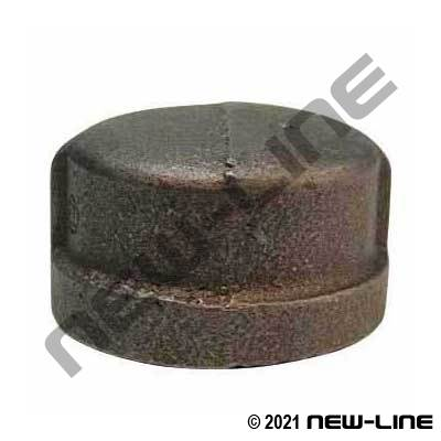 Black Malleable Iron Cap