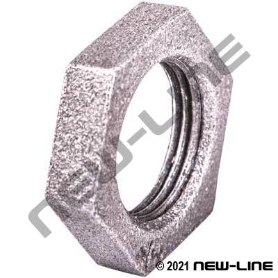 Black Malleable Iron Bulkhead Lock Nut