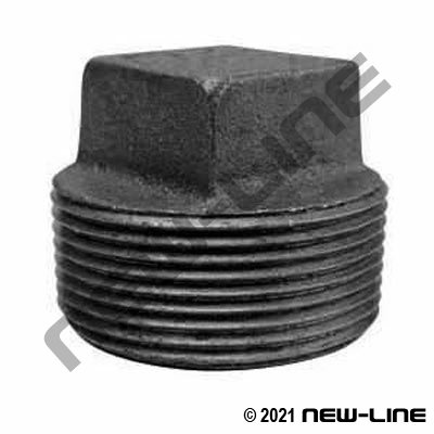 Black Malleable Iron Square Head Plug