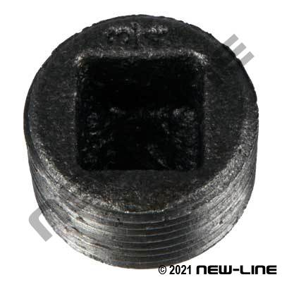Black Malleable Iron Countersunk Plug
