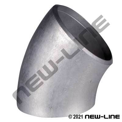 Aluminum 45° Long Radius Weld Elbow