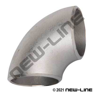 316 Stainless Sched 40 Short-Radius 90° Weld Elbow