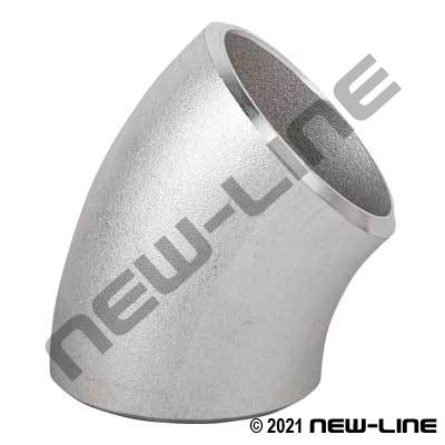 316 Stainless Sched 40 Long-Radius 45° Weld Elbow