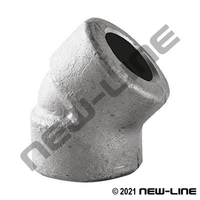 Forged SW 316SS 45° Elbow Cl.3000 Sch160 Asme B16.11