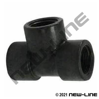 Extra Heavy Sched 80 Polypropylene Female NPT Tee