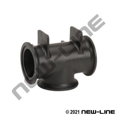 Polypropylene Flanged Manifold Tee with Mount Brackets