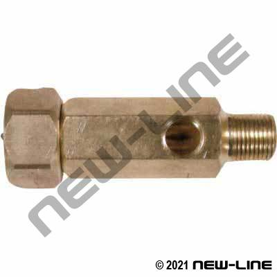 Bypass or Gauge Port - Brass Female GHTxMNPT (1/4 NPT Port)
