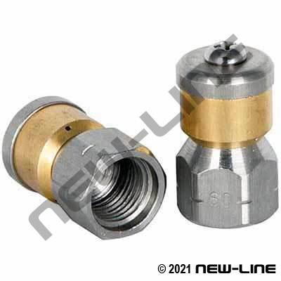 Female NPT Rotating Mole Sewer Nozzle