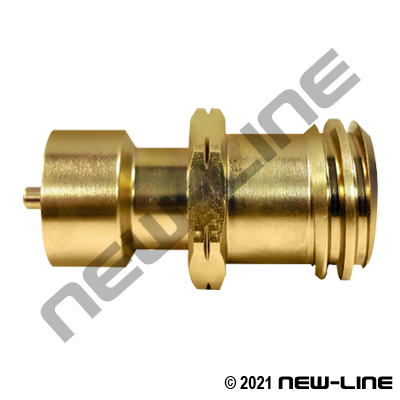 Brass CGA Last Chance Cylinder Adapter
