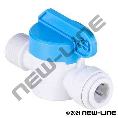 John Guest Tube x Male Thread Water Shut-Off Valve
