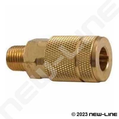Auto Interchange Coupler X Male Npt Brass