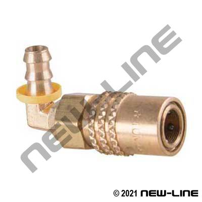90° Push-On x Injection Coupler