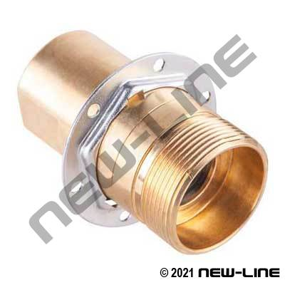 5100 Male Nipple-with Flange X Female NPT