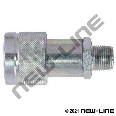 Safeway Brand Jack Hose Coupler with Poppet x Male NPT