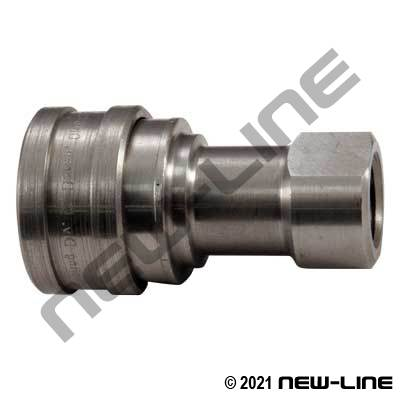 Stainless Hydraulic 7241-1B Coupler X Female NPT