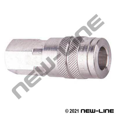 Industrial Interchange Coupler x FNPT - Stainless Steel