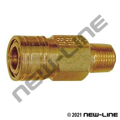 "1/8"" Mini Quick Disconnect x Male NPT Coupler"
