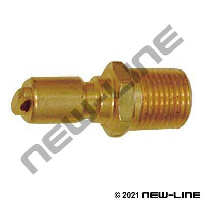 "1/8"" Mini Quick Disconnect x Male NPT Nipple"