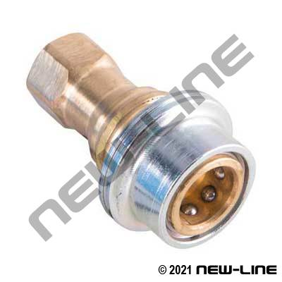 Brass Steam Quick Connect Coupler