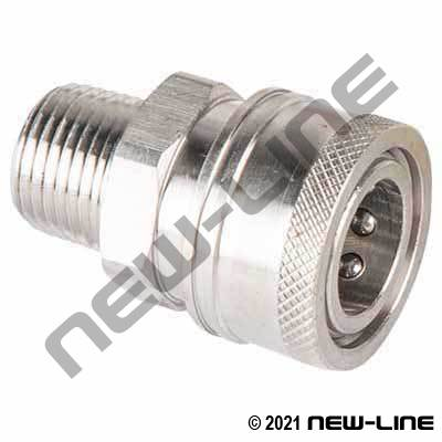Stainless Steel Straight Through Male NPT x Coupler