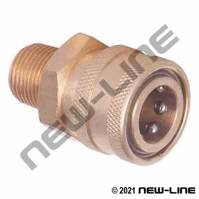 Brass Straight Through Male NPT x Coupler