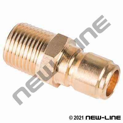 Brass Straight Through Male NPT x Nipple