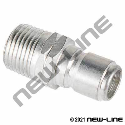 Plated Steel Straight Through Male NPT x Nipple