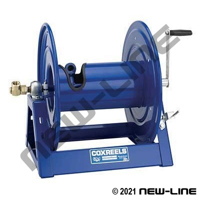 "Coxreels 1195 Heavy Duty 2"" ID Hose/Direct Hand Crank Rewind"