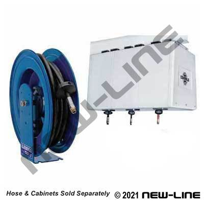 Coxreels Cabinet Style Heavy Duty Spring Rewind Hose Reel