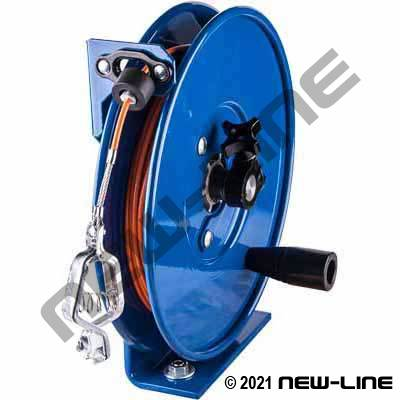 Coxreels Static Discharge Cable Reel - SS Cable, Hand Crank