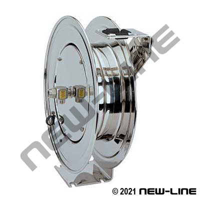 Coxreels Stainless Performance Duty Spring Rewind Hose Reel
