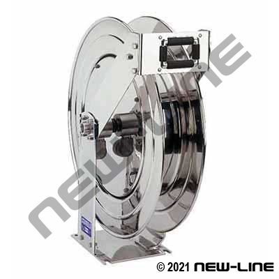 Coxreels Stainless Supreme Duty Spring Rewind Hose Reel