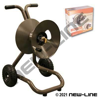 Medium Duty/Quality Garden Hose Dolly/Cart Mount Reel