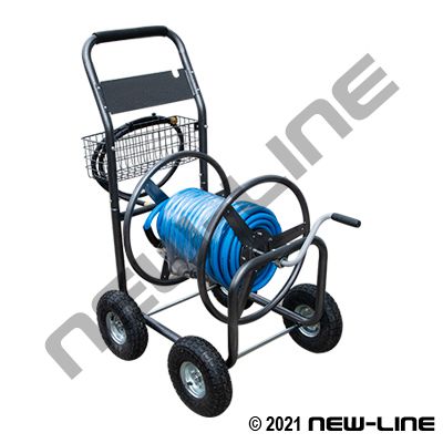 Blue Serpent Hose with 4 Wheel Cart & NL Nozzle