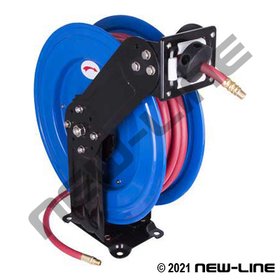 "Titan Series Spring Rewind Air Hose Reel (Includes 3/8""x50')"