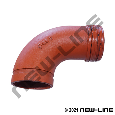 Grooved x Male NPT Standard 90° Elbow