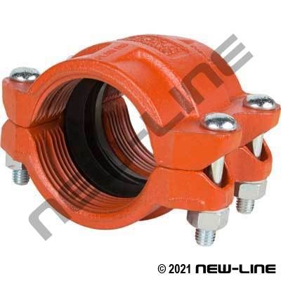 Plain End Bolt Coupling For HPD Plastic Pipe