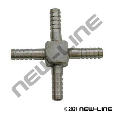 Stainless Hose Barb Cross