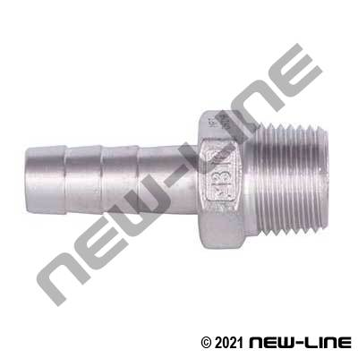 Stainless Hose Barb x Male NPT
