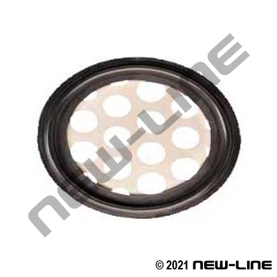 Black Bunan Triclamp Perforated Metal Gasket